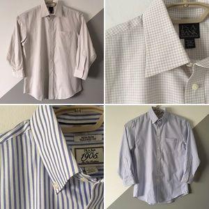 Jos A Bank SzL Dress Shirts Bundle of 2 Size 16/32